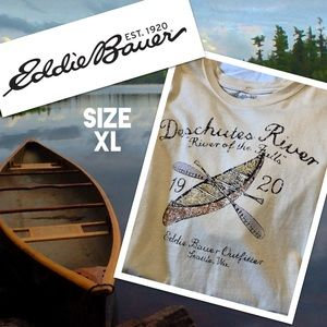 VTG Eddie Bauer Soft Cotton Canoe Tee XL